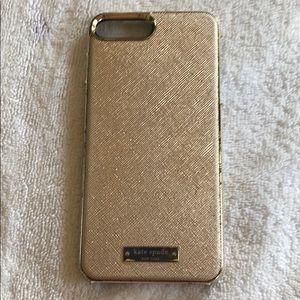 iPhone 6plus/7plus/8plus kate spade rose gold case